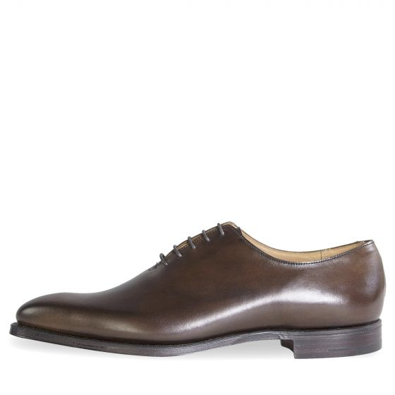 Crockett & Jones 'Alex' Burnished Calf Leather Shoes Brown