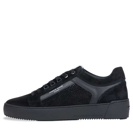 Android Homme Venice Suede Trainer Carbon Black