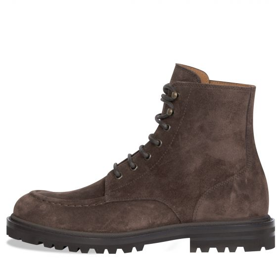 BRUNELLO CUCINELLI 'Suede' Laced Boots Brown