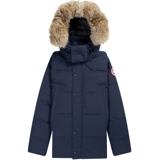 Canada Goose Wyndham Fur Hooded Parka Atlantic Navy