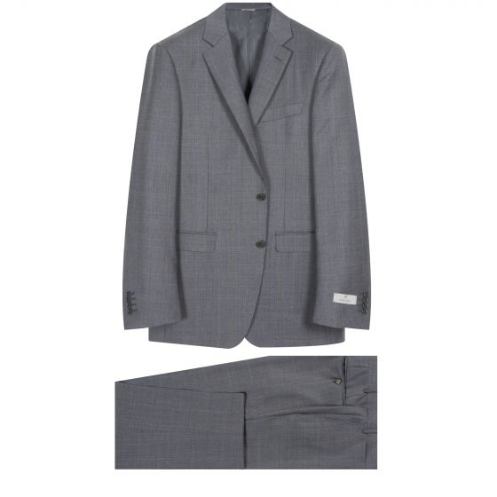Canali Prince of Wales Check Suit Grey