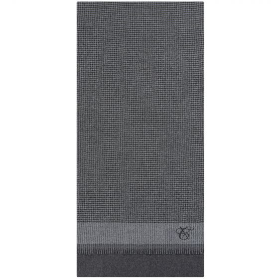 Canali 'Houndstooth' Scarf Charcoal