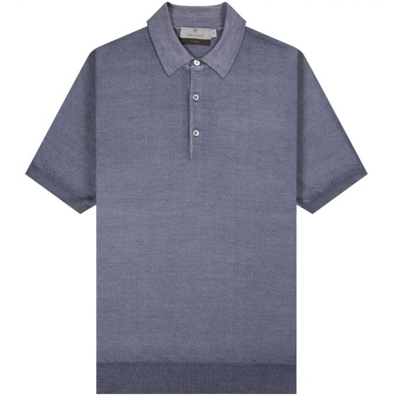 Canali 'Exclusive' Wool And Silk Polo Blue