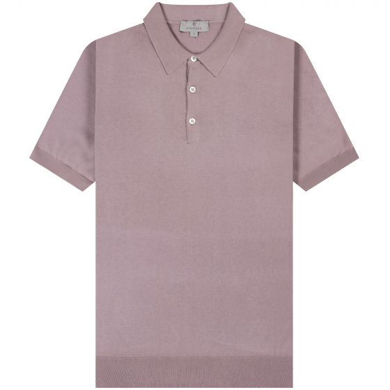 Canali 'Knitted' Cotton Polo Rose