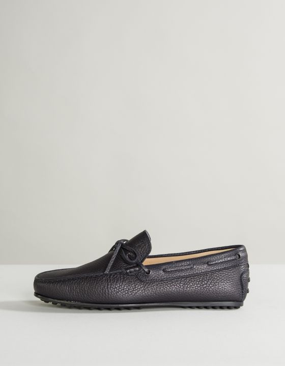 TODS City Gommino Leather Driving Shoes Dark Navy