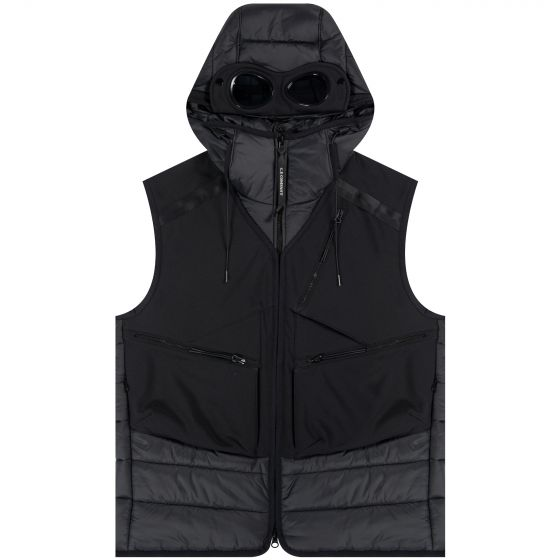 CP Company 'C.P. Shell-R' Pocket Quilted Goggle Gilet Black