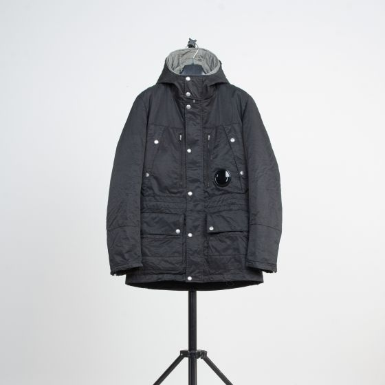 RE-POCKETS C.P COMPANY Removable Liner Field Jacket Silver/Black