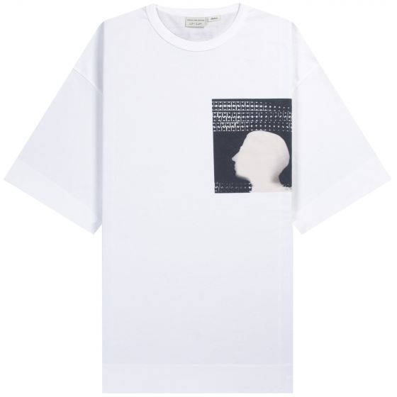 Dries Van Noten Len Lye 'Tony Moreno' Printed Silhouette T-Shirt White