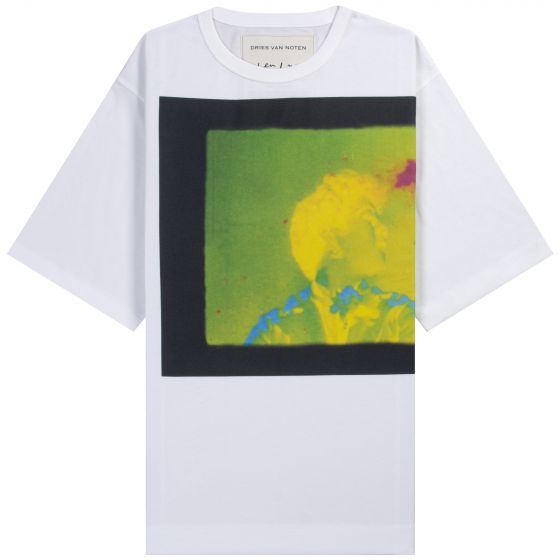 Dries Van Noten Len Lye 'Rainbow Dance' Print T-Shirt White