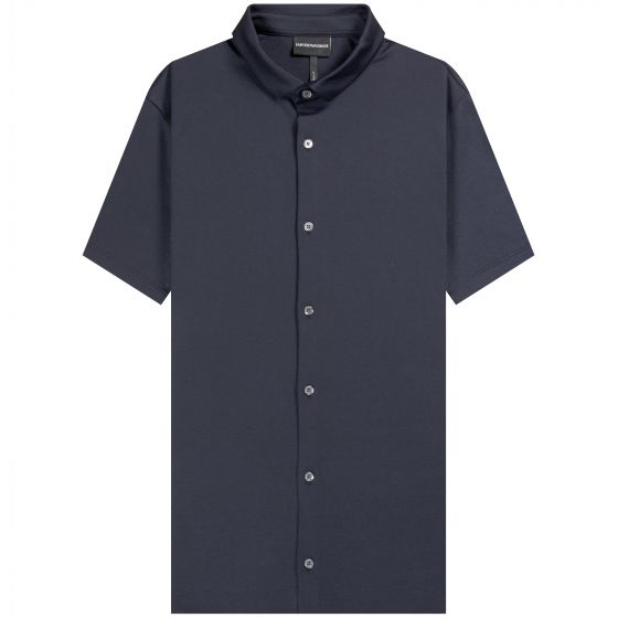 Emporio Armani 'Full Button' Polo Shirt Navy