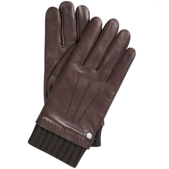 Mulberry Smooth Nappa Rivet Gloves Brown