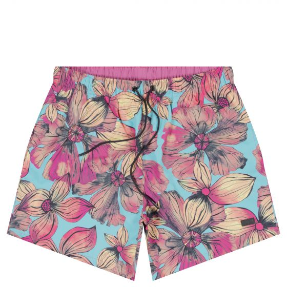 HUGO BOSS 'Paintfish' Floral Swim Short Multi