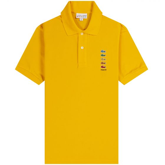 Lacoste X Polaroid Coloured Crocodiles Classic Fit Polo Shirt Yellow