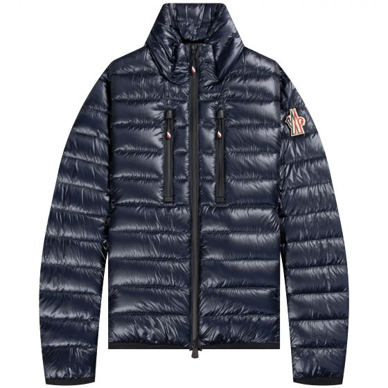 Moncler Grenoble HERS Full Zip Down Jacket With Removable Badge Ink Blue