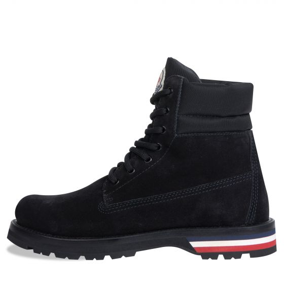 Moncler 'Vancouver' Hiking Suede Boot Black