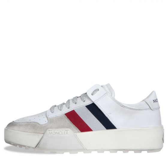 Moncler 'Promyx' Vintage Distressed Low Top Trainers white