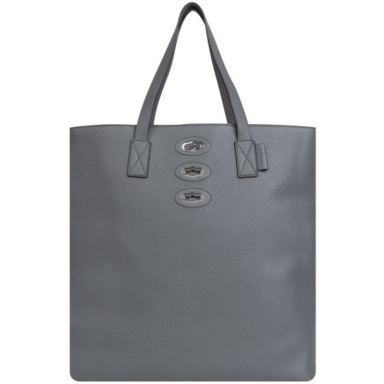 Mulberry 'Bryn' Tote Bag Heavy Grain Charcoal