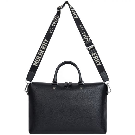 Mulberry 'City Briefcase' Heavy Grained Black