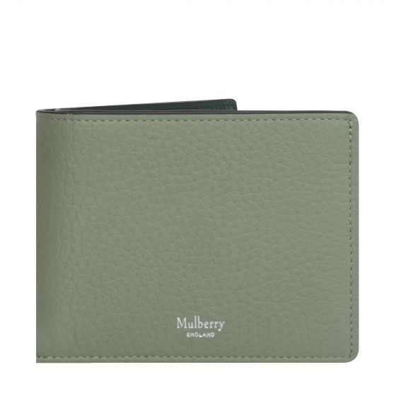 Mulberry '8 Card' Wallet Heavy Grain Contrasted Cambridge Green