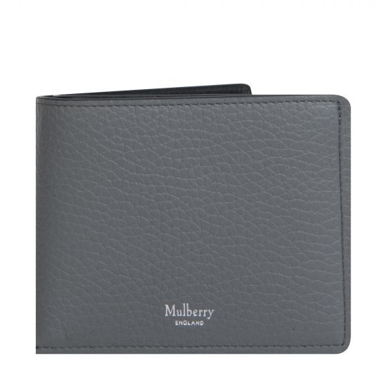 Mulberry '8 Card' Wallet Heavy Grain Charcoal