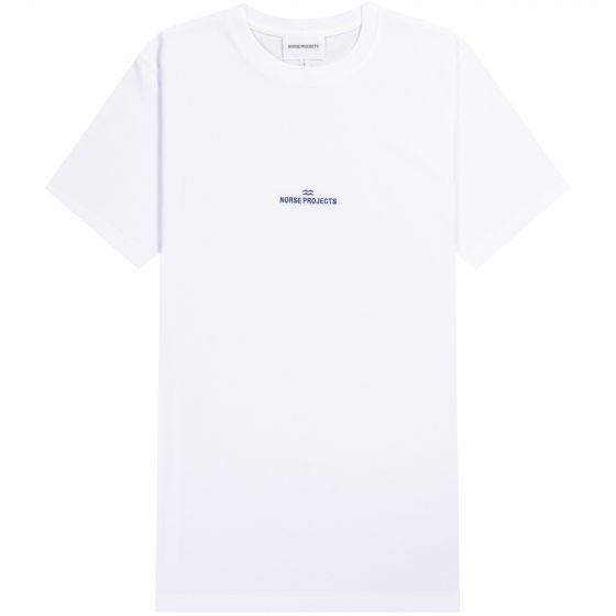 Norse Projects Niels Centre Wave Logo T-Shirt White