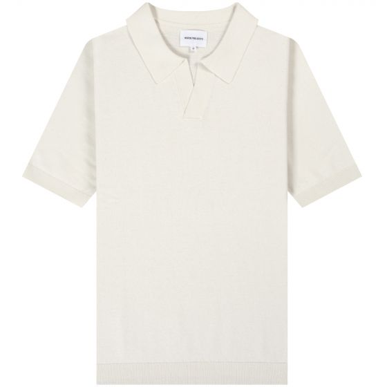 Norse Projects 'Leif Cotton' Linen Polo White