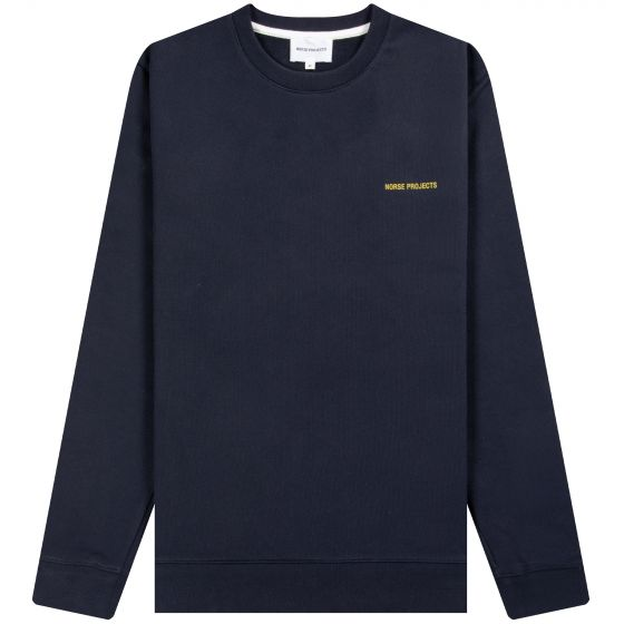 Norse Projects 'Vagn' Chest Logo Sweatshirt Navy