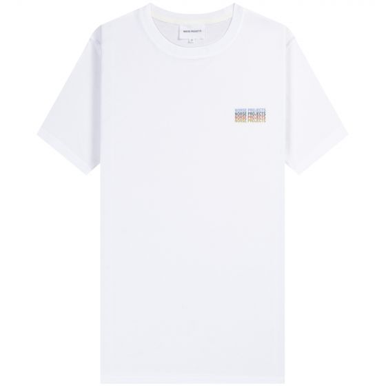 Norse Projects 'Niels' Logo Stack T-Shirt White