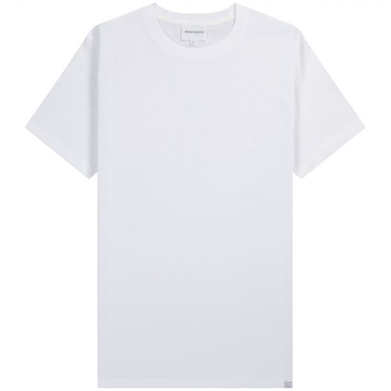 Norse Projects 'Niels' Hem Logo Standard SS T-Shirt White