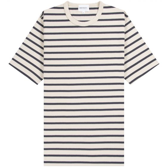 Norse Projects 'Holger' SS Compact Cotton T-Shirt Ecru