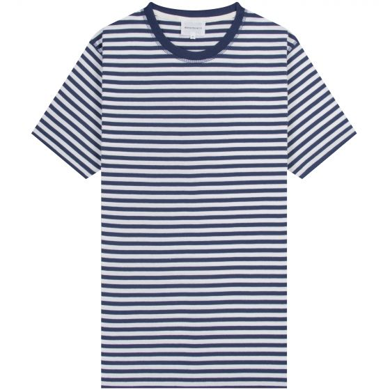 Norse Projects 'Niels' Classic Stripe T-Shirt Navy/White