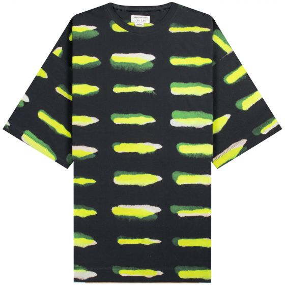 Dries Van Noten Len Lye 'Trade Tattoo' Printed T-Shirt Black/Green