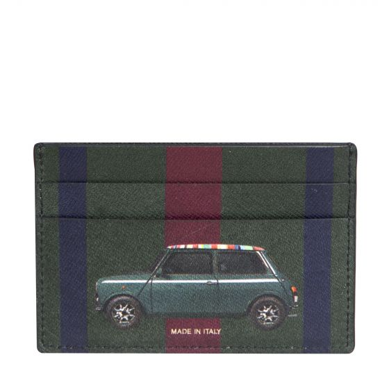 Paul Smith Mini Stripe Card Wallet Black