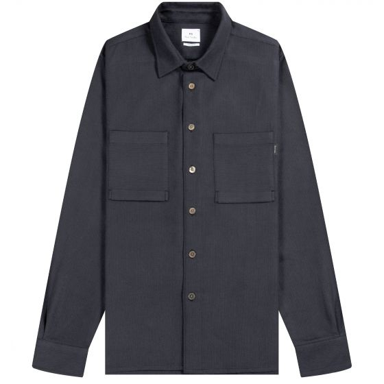 Paul Smith PS Felt Self Striped Pocket Shirt Charcoal