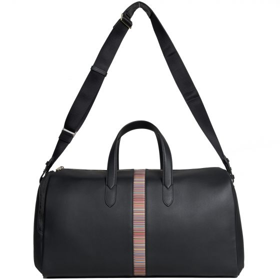 Paul Smith PS Leather Signature Stripe Holdall Black