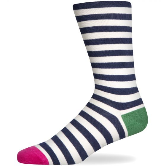 Paul Smith Accessories Paul Smith Striped Coloured Toe Sock Blue/White