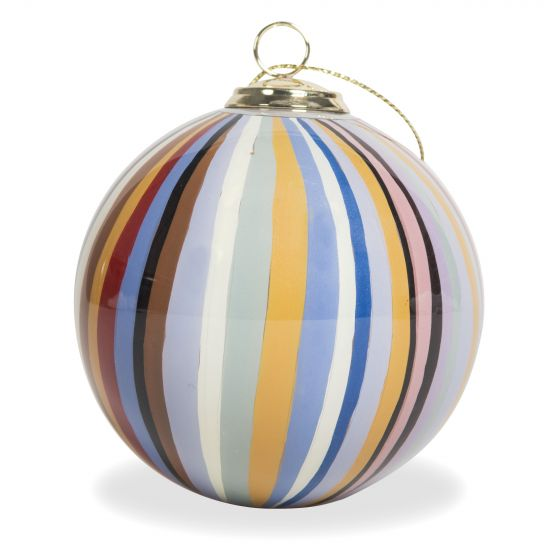 Paul Smith Hand-Painted Signature Stripe Glass Bauble Multi 92