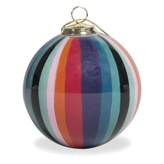 Paul Smith Hand-Painted Swirl Glass Bauble Multi 90