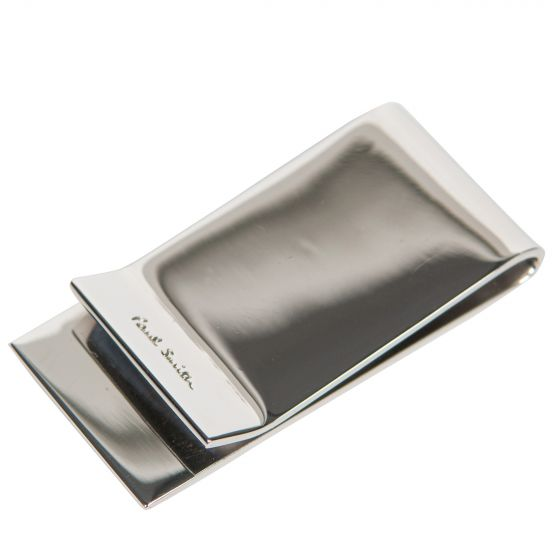 Paul Smith Money Clip With Striped Edge Silver
