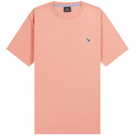 Paul Smith PS 'Classic Zebra' Crew T-Shirt Coral