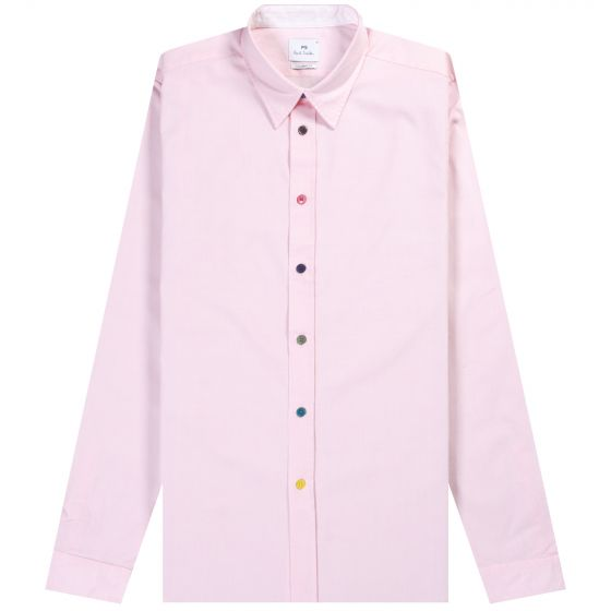 Paul Smith PS 'Multi Button' Shirt Pink