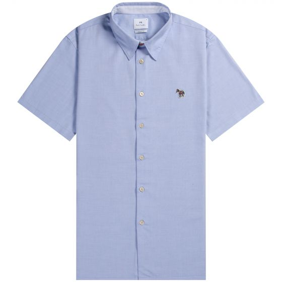 Paul Smith PS Casual Fit Short Sleeved Shirt Sky