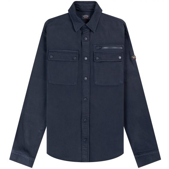 Paul & Shark 'Garment Dyed' Stretched Overshirt Navy