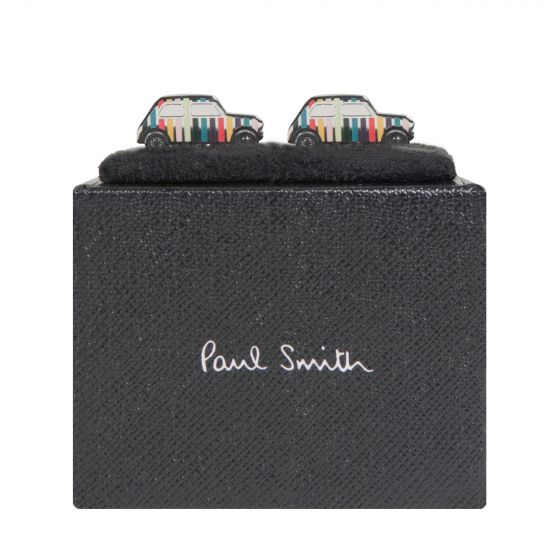 Paul Smith 'Mini Car' Mutli Stripe Cufflinks