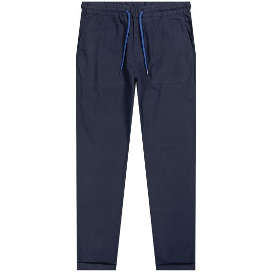 Paul Smith PS 'Drawstring Trousers' With Turn Up Navy