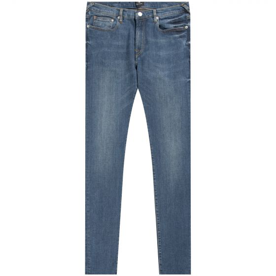 Paul Smith PS 'Tapered-Fit' Antique Wash Jeans Blue