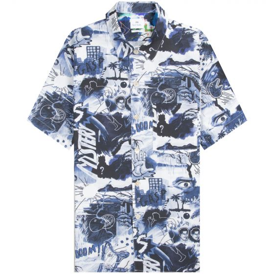 Paul Smith PS 'Cartoon Print' Shirt Multi