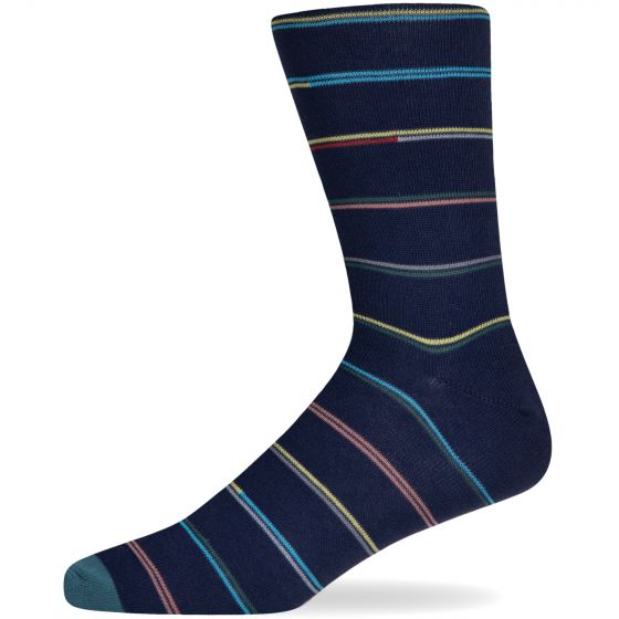 Paul Smith 'Champ' Striped Sock Navy