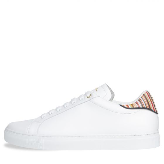 Paul Smith PS 'Beck' Stripe Detail Leather Trainer White
