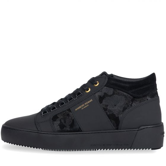 Android Homme Propulsion Mid Top Trainers Suede Black
